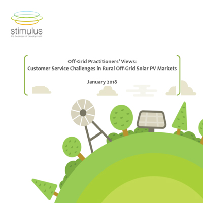 Customer Service Challenges in Rural Off-Grid Solar PV Markets
